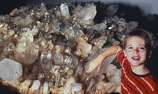 Field Of Crystals - 10 Foot Long Arkansas Quartz Crystal Cluster